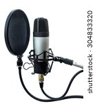 studio microphone isolated on...   Shutterstock . vector #304833320