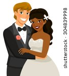 Mixed Race Couple Getting...