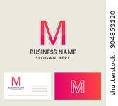 modern alphabetical logo and... | Shutterstock .eps vector #304853120