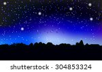 the star sky | Shutterstock .eps vector #304853324