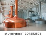 brewing production   metal beer ... | Shutterstock . vector #304853576