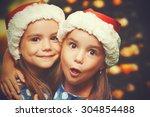 christmas happy funny children... | Shutterstock . vector #304854488