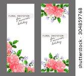 romantic invitation. wedding ... | Shutterstock .eps vector #304859768