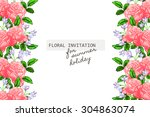 romantic invitation. wedding ... | Shutterstock .eps vector #304863074