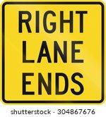 traffic sign in canada   right... | Shutterstock . vector #304867676