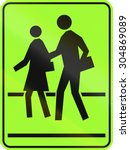 canadian school crossing... | Shutterstock . vector #304869089