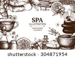 vector design with  hand drawn... | Shutterstock .eps vector #304871954