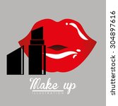 make up digital design  vector...   Shutterstock .eps vector #304897616