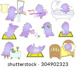crummy bellied dragon is... | Shutterstock .eps vector #304902323