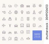 transportation outline icons... | Shutterstock .eps vector #304920653