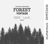 Vintage Forest Design Template...