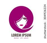 beauty salon vector logo design ... | Shutterstock .eps vector #304926224