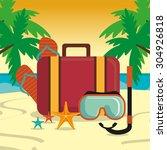 summer digital design  vector... | Shutterstock .eps vector #304926818