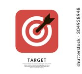target icon. aim symbol. flat... | Shutterstock .eps vector #304928948