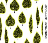 seamless pattern with green... | Shutterstock .eps vector #304940009