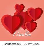 romantic love design  vector...   Shutterstock .eps vector #304940228