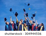 high school students graduates... | Shutterstock . vector #304944536