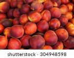 Fresh Organic Peaches. Fruit...