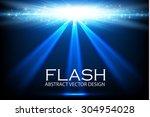 shining spotlight. flash. empty ...   Shutterstock .eps vector #304954028