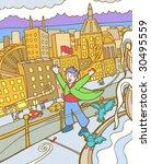 windy city   Shutterstock . vector #30495559