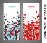 set creative flyers. triangle... | Shutterstock .eps vector #304956140