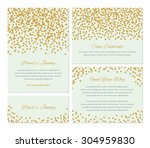 wedding invitation collection... | Shutterstock .eps vector #304959830