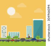 building digital design  vector ... | Shutterstock .eps vector #304966094