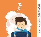 good night digital design ... | Shutterstock .eps vector #304966544