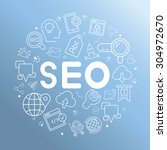 seo  search engine optimization | Shutterstock .eps vector #304972670