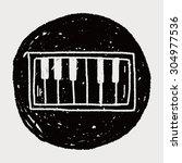 piano doodle | Shutterstock .eps vector #304977536