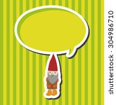 elf  cartoon speech icon | Shutterstock . vector #304986710