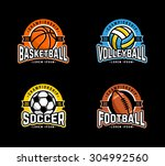sport logo set. basketball ... | Shutterstock .eps vector #304992560