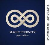 vector abstract magic eternity... | Shutterstock .eps vector #304993346