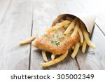 Fish And Chips. Fried Fish...