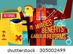 human resource welfare policy...   Shutterstock . vector #305002499