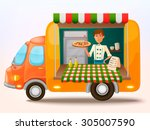 mobile food truck. car with...
