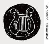 harp doodle | Shutterstock .eps vector #305010734