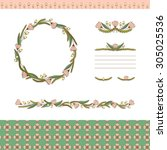 seamless floral pattern and... | Shutterstock .eps vector #305025536