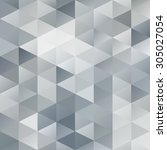 gray white grid mosaic... | Shutterstock .eps vector #305027054