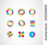 vector company logo icon... | Shutterstock .eps vector #305030840