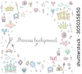 Hand Drawn Vintage Princess...