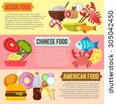 set of flat design concepts of... | Shutterstock .eps vector #305042450