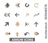 arrow  direction flat icons ... | Shutterstock .eps vector #305048378