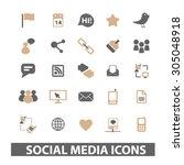 social media  blog  internet... | Shutterstock .eps vector #305048918