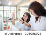 chemistry students doing... | Shutterstock . vector #305056028
