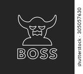 game devil line icon   Shutterstock .eps vector #305057630