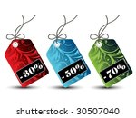 floral sales tags | Shutterstock .eps vector #30507040