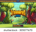 jungle loading screen to a... | Shutterstock .eps vector #305077670