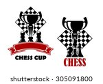 Chess Cup Tournament Emblems O...