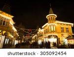 Christmas Lights In Amusement...